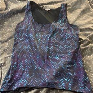 Zigzag print dress tank